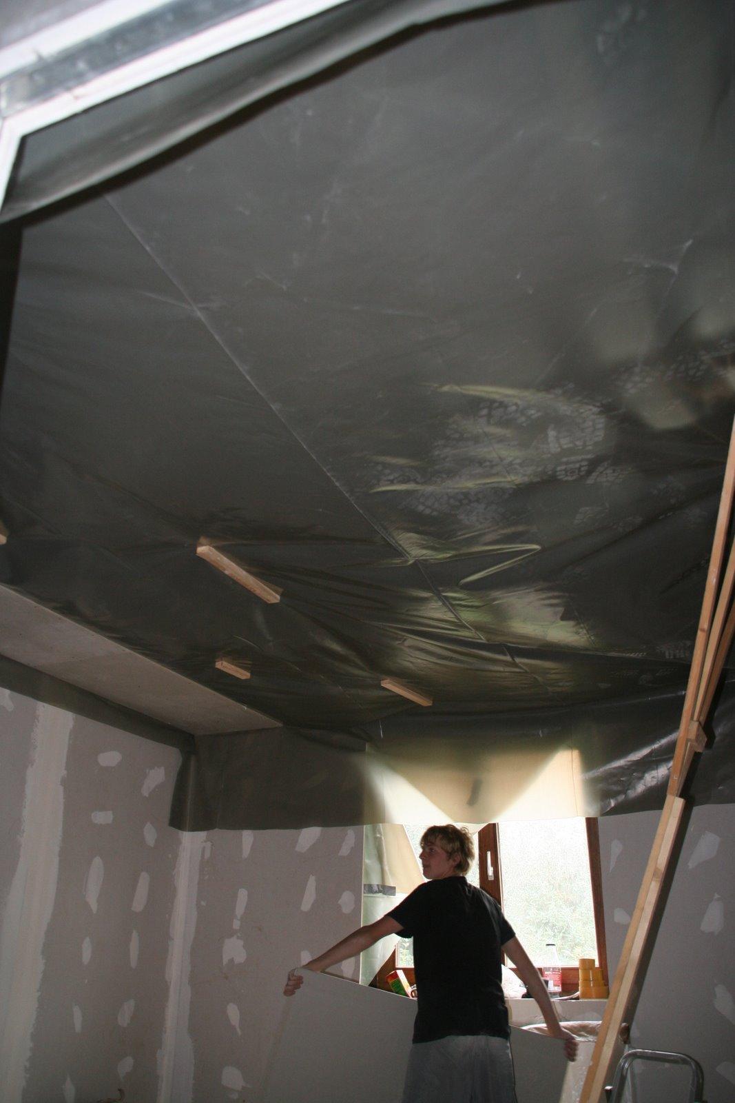 ingrid et geof pare vapeur et plafond gyproc. Black Bedroom Furniture Sets. Home Design Ideas